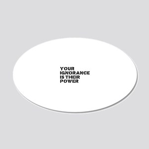 ignorance 20x12 Oval Wall Decal
